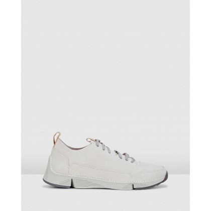 Tri Spark White Leather by Clarks
