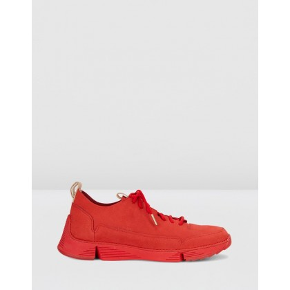 Tri Spark - Women's Red Nubuck by Clarks