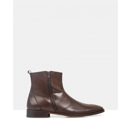 Tristan Ankle Boots Brown by Brando