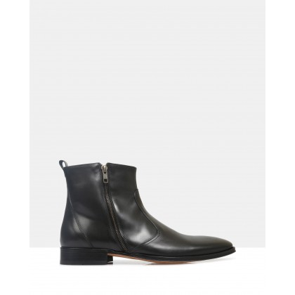 Tristan Ankle Boots Black by Brando