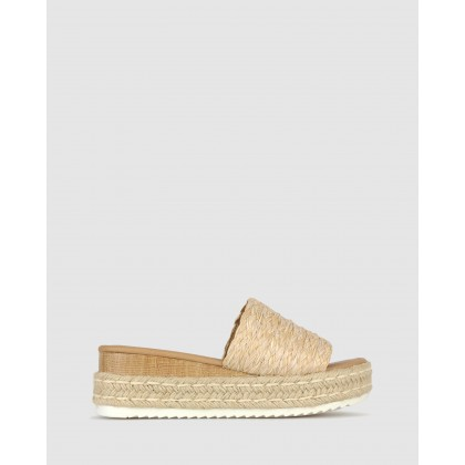 Trix Slip On Flatform Sandals Natural by Betts