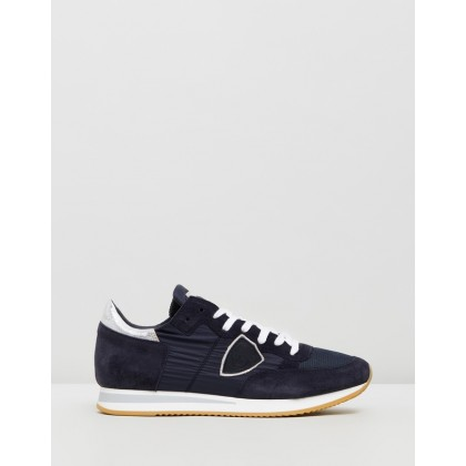Tropez Sneakers Basic Bleu Argent by Philippe Model