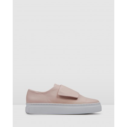 Tullie Sneakers Blush Leather by Jo Mercer