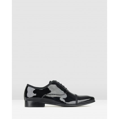 Tux Leather Oxford Dress Shoes Black Patent by Zu