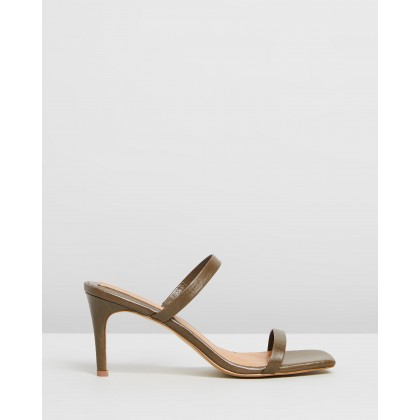 Two Strap Wrinkled Heels Olive by Jaggar The Label
