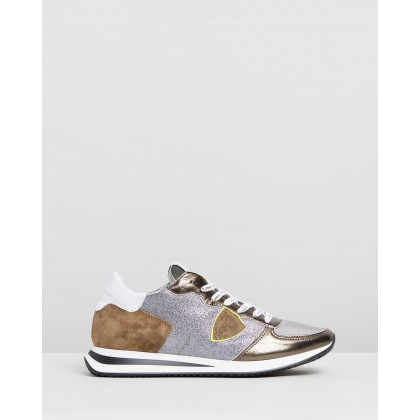 TZLD Sneakers Khaki & Glitter by Philippe Model
