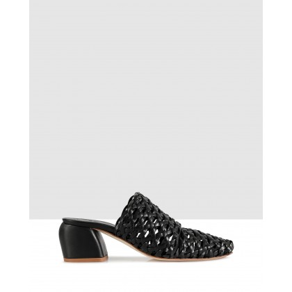Ulla Block Sandals Nero by Beau Coops