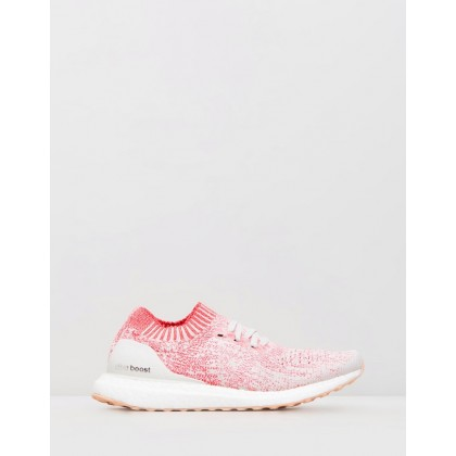 Ultraboost Uncaged - Women's Raw White & Shock Red by Adidas Performance