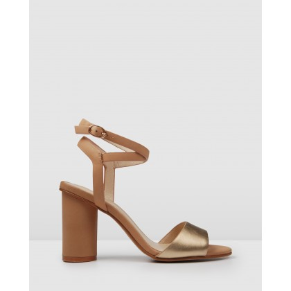 Umberto High Heel Sandals Tan Multi by Jo Mercer