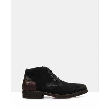 Underwood Desert Boots Black by Brando