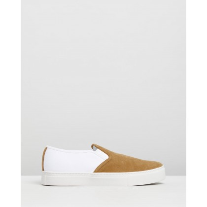 Vass Suede Combo Sneakers Burnt Khaki by Saturdays Nyc
