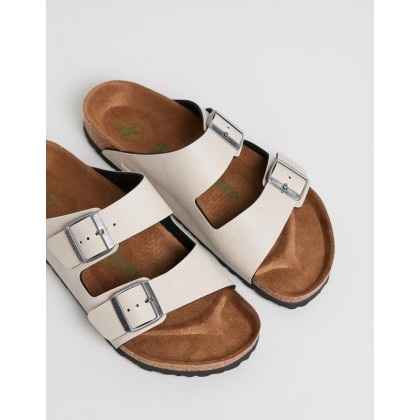 Vegan Arizona Regular - Women's Birko Flor, Pull Up & Stone Veg by Birkenstock