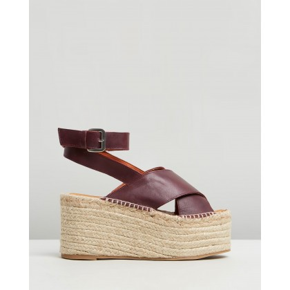 Vegas Burgundy by Alohas Sandals