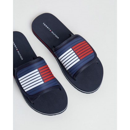 Velcro Strap Beach Sandals Midnight by Tommy Hilfiger