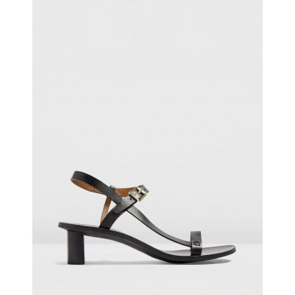 Venus Asymmetric Sandals Black by Topshop