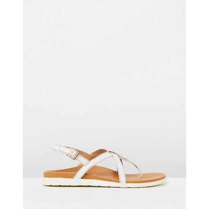 Veranda Backstrap Sandals White by Vionic