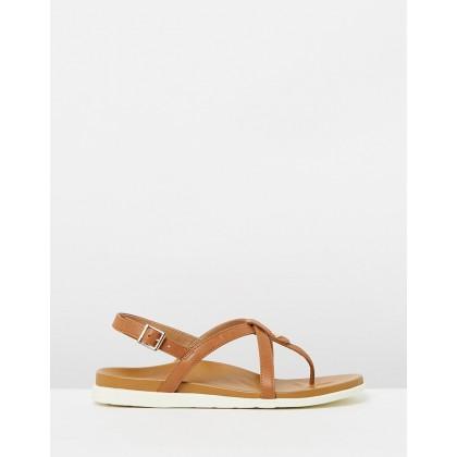 Veranda Backstrap Sandals Tan by Vionic
