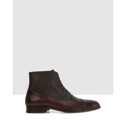 Vern Ankle Boots Mogano by Brando
