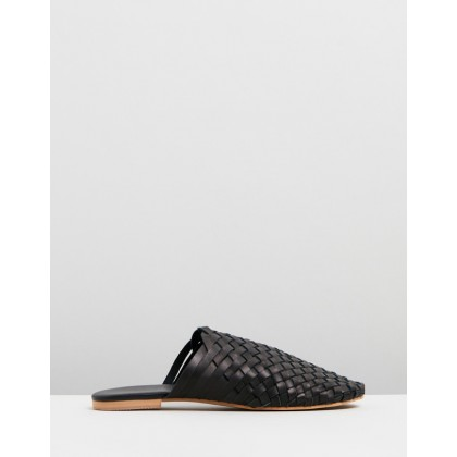 Vienna Leather Mules Black by Walnut Melbourne