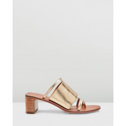 Violet Mule Sandals Gold by Topshop
