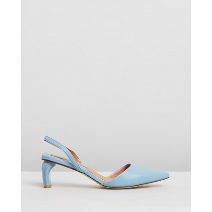 Virtue Leather Slingbacks Sky Blue by Jaggar The Label