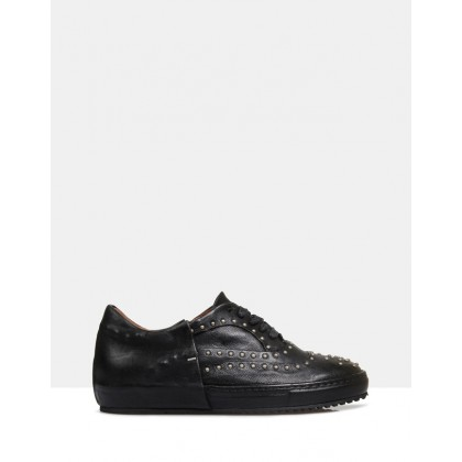 Vivian Leather Sneakers Black by Sempre Di