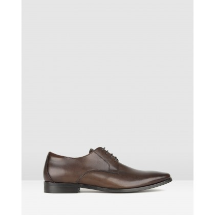 Volt Leather Derby Dress Shoes Chocolate by Zu