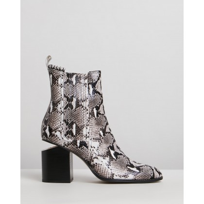 Vulcan Boots Black & White Python by Mollini