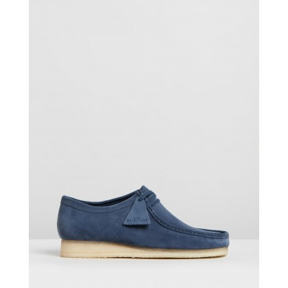 Wallabee Deep Blue Suede by Clarks Originals