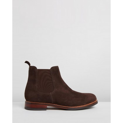 Warren Choc Suede by Grenson