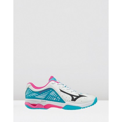 Wave Exceed 2 - Women's White / Blue Atoll by Mizuno