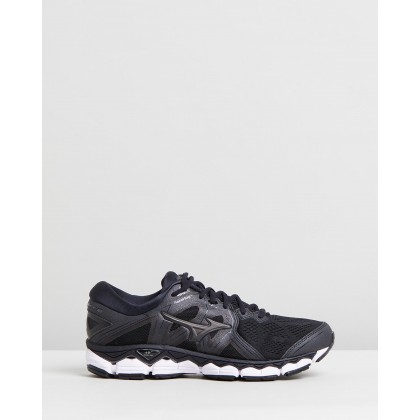 Wave Sky 2 - Men's Black & Metallic Shadow by Mizuno