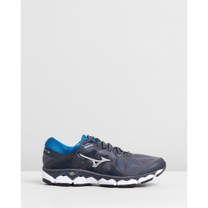 Wave Sky 2 - Men's Dark Shadow & Blue Sapphire by Mizuno