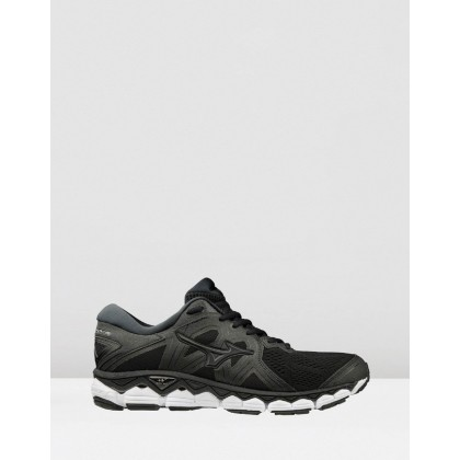 Wave Sky 2 - Men's Black Metallic Shadow by Mizuno