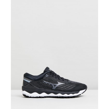 Wave Sky 3 - Women's Black & Dark Shadow by Mizuno