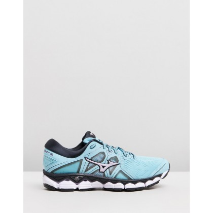Wave Sky - Women's Angel Blue & Lavender Frost by Mizuno