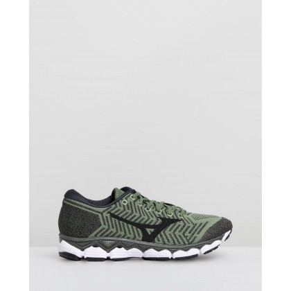 Waveknit S1 - Men's Olivine & Black by Mizuno