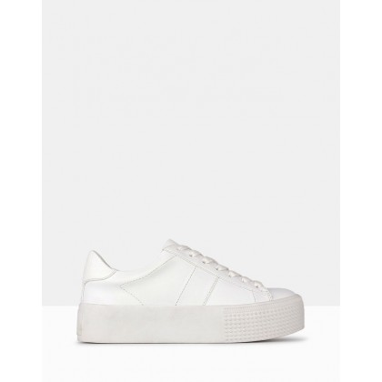 Weekend Flatform Sneakers White by Betts