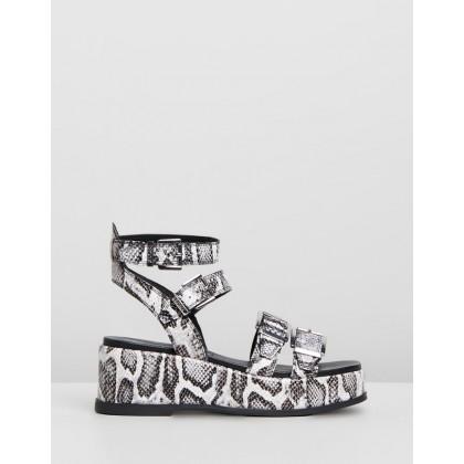 Weggy Sandals Black & White by Bronx