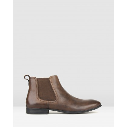 West Leather Chelsea Boots Brown by Airflex