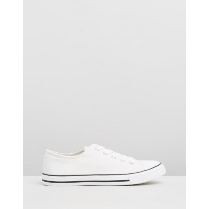 Wide Fit Icons Sneakers White by Dorothy Perkins