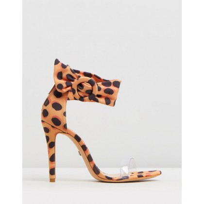 Wild Dots Vinyl Sandals Orange by Schutz