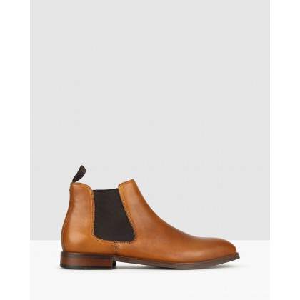 Wildfire Leather Chelsea Boots Whiskey by Betts