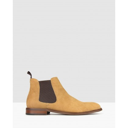 Wildfire Leather Chelsea Boots Sand by Betts
