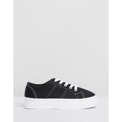 Willow Platform Sneakers Black Drill by Rubi
