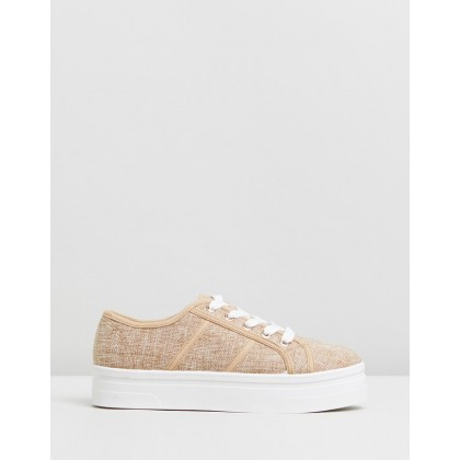 Willow Platform Sneakers Natural Linen by Rubi