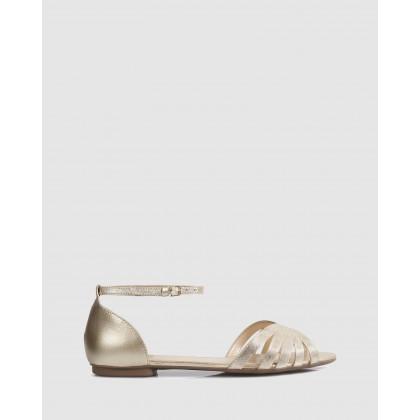 Wina Flat Sandals Ouro by Sempre Di
