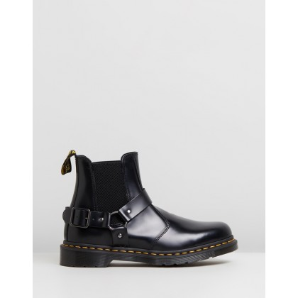 Wincox Chelsea Boots - Women's Black Polished Smooth by Dr Martens