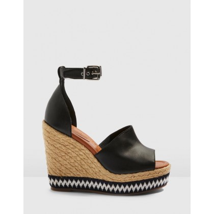 Wing Wedges Black by Topshop