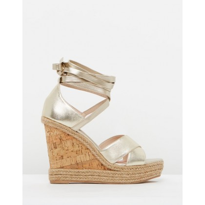 Winona Wedges Gold by Topshop